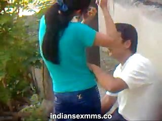 Indian college student fucking outdoor hidden